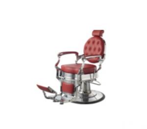 כסא גברים למספרה אדום