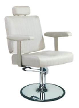כסא לקוח הידראולי לבן